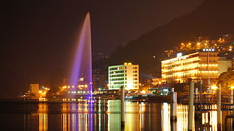 Paradiso, Ticino - Paradiso with its water fountain