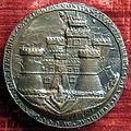 Gianfrancesco enzola, medaglia di costanzo sforza, recto con castello di pesaro, 1475.JPG