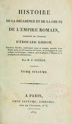 Edward Gibbon: Histoire de la décadence et de la chute de l'Empire romain
