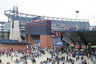Gillette Stadium - Gillette Stadium mezzanine area