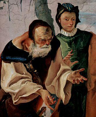 Udine - Museo Diocesano e Gallerie del Tiepolo, Affresco, particolare di una scena biblica, Giacobbe