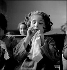 Girl in the Albergo dei Poveri reformatory, Naples 1948.jpg