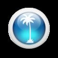 Glossy 3d blue palmtree.png