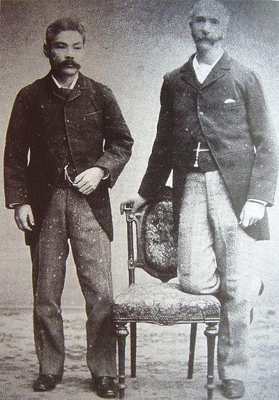 グラバー(右)と岩崎弥之助