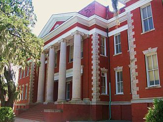 Glynn Academy - The Prep Building, erected in 1909, is the second-oldest building at the school. It is perhaps the most iconic building on campus due to its façade.