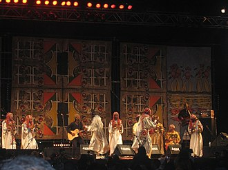 Gnaoua World Music Festival - Gnaoua (Gnawa) musicians performing during the 2010 Gnaoua World Music Festival in the city of Essaouira, Morocco