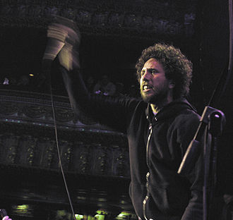 Zack de la Rocha - Zack de la Rocha on stage with Rage Against the Machine in 2007