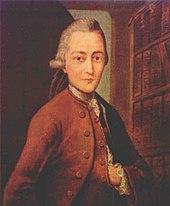 Goethe kurz vor seiner Studentenzeit in Leipzig, nach einem 1943 verbrannten Ölgemälde von Anton Johann Kern (Quelle: Wikimedia)