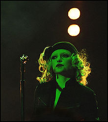 Alison Goldfrapp performing live in Cambridge, 2005