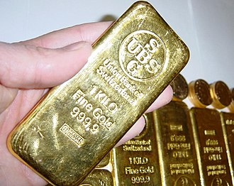 "Union Bank of Switzerland - UBS ""Gold Key"" used to access an account number known only to the bearer."