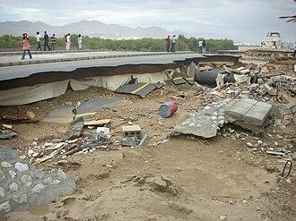 Cyclone Gonu - Road damage in Muscat, Oman