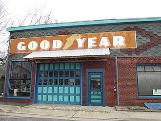 Augusta, Missouri - Goodyear store in Augusta
