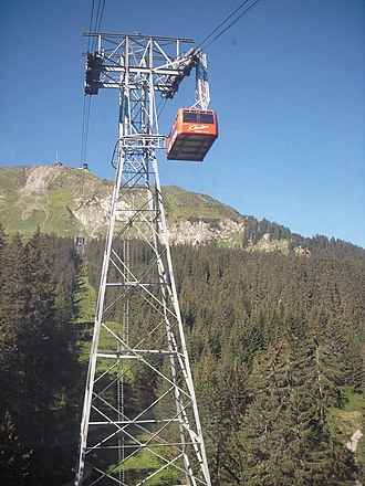 Klosters - Cable car near Klosters, much of the local economy depends on tourism
