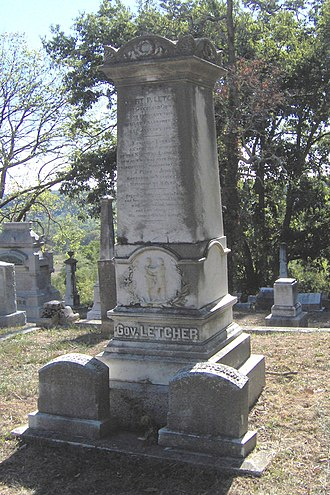 Robert P. Letcher - Gravestone of Letcher in Frankfort Cemetery