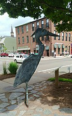 Great Blue Heron Statue