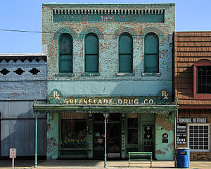 Kaufman, Texas - The Greenslade Drug Store in Kaufman, Texas.