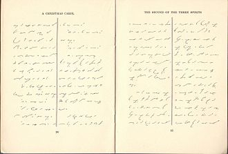 """Gregg shorthand - Sample of text from """"A Christmas Carol"""", published in Gregg shorthand, 1918."""