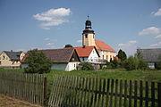Grudza Widok na wieś z kościołem NMP 01.JPG