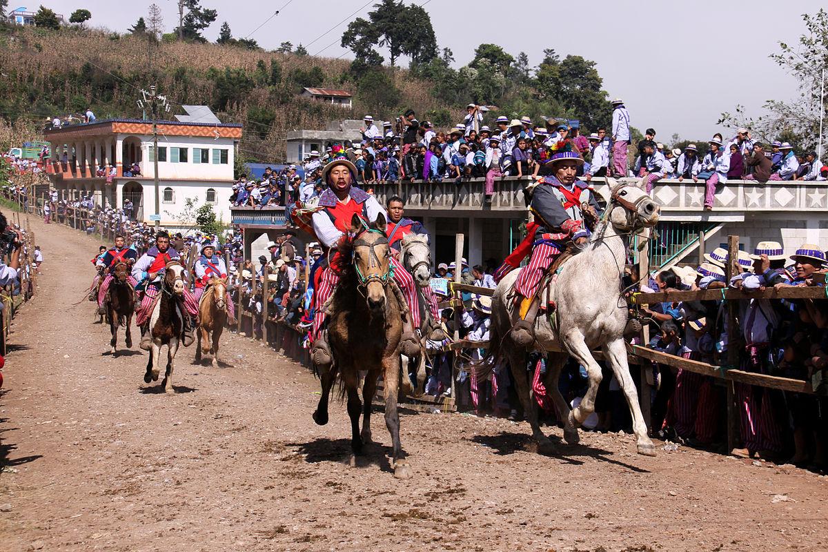 Horse races in Todos Santos Cuchumatán