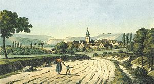 Güglingen - Güglingen from east, about 1820