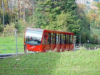 Gurten Funicular - Image: Gurtenbahn