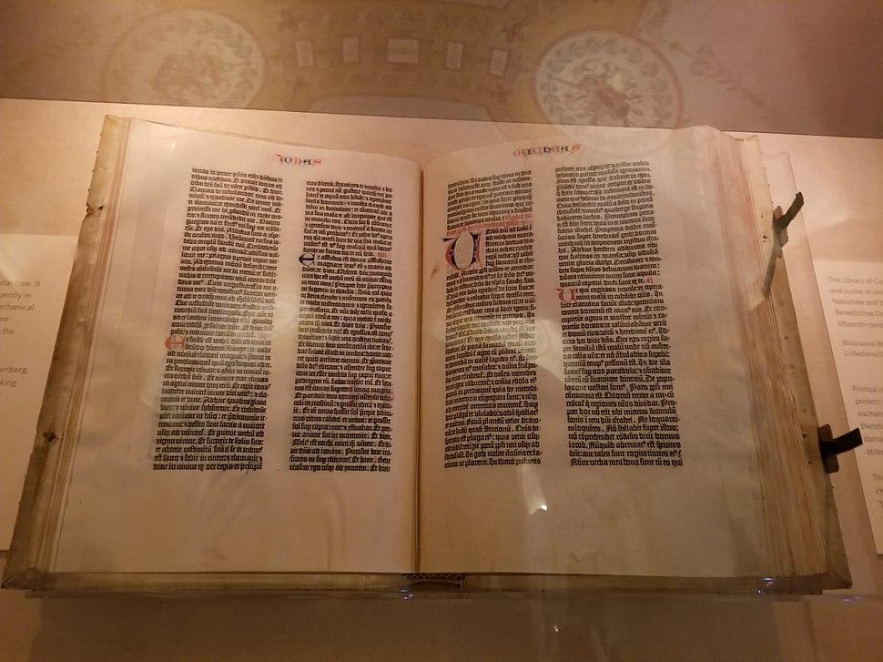 Gutenberg Bible, in the Library of Congress, תנך גוטנברג, בספריית הקונגרס