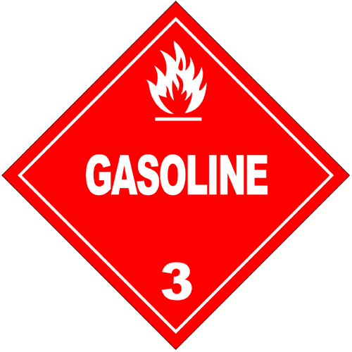 HAZMAT Class 3 Gasoline