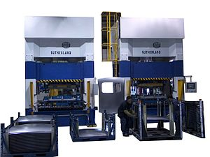 Hydraulic press - Automotive Hydraulic Sunroof Production