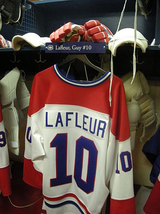 Guy Lafleur - The Guy Lafleur Montreal Canadiens locker room display  at the Hockey Hall of Fame.
