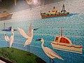 HK ALC 港鐵 MTR 海怡半島站 South Horizons Station platform wall mural Mosaics art 香港仔避風塘 Aberdeen Typhoon Shelter Soaring Horizons 翱遊半島 Pow Chuek Mei 鮑卓微 Dec 2016 Lnv2 15.jpg