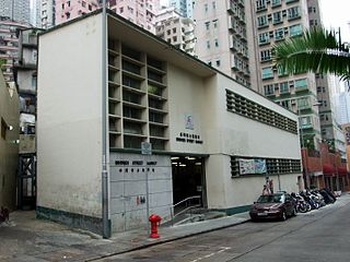 Bridges Street street in Hong Kong