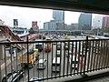 HK Hung Hom 香港理工大學 PolyU Hong Chong Road footbridge fence view traffic Feb-2013.JPG