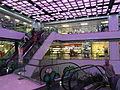HK Ngau Tau Kok 淘大商場 Amoy Plaza indoor ceiling n escalators in Purple lighting May-2012.JPG