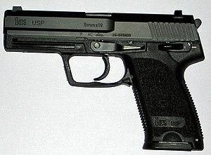 Modern weapons of the Irish Army - Image: HK USP 9mm Pragl
