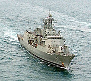 The Royal Australian Navy frigate, HMAS Anzac