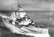Лёгкий крейсер Argonaut типа Dido в камуфляже военного времени вскоре после...