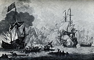 HMS Kingfisher (1675) - Image: HMS Mary Rose and pirates