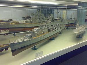 HMS Scylla (98) - A model of Scylla at the Glasgow Museum of Transport.
