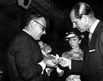 HRH The Duke of Edinburgh and HRH Princess Anne with a koala, Brisbane, April 1970 (36362419245).jpg