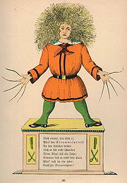 Struwwelpeter in a children's book from 1917.