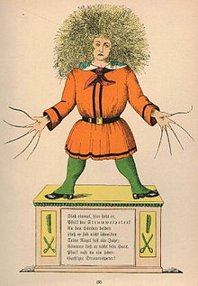 Struwwelpeter in a 1917 edition - Via Wikipedia