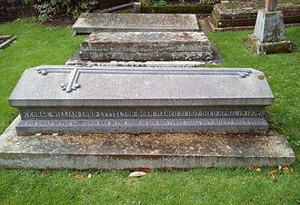 George Lyttelton, 4th Baron Lyttelton - St John the Baptist Church, Hagley, grave of the 4th Baron Lyttelton and of his second wife Sybella Harriet (née Clive).