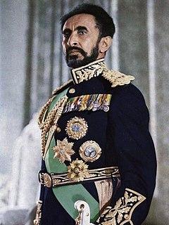 Haile Selassie Emperor of Ethiopia from 1930 to 1974; messianic figure of the Rastafari movement