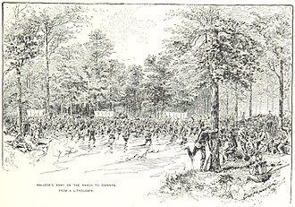 Siege of Corinth - Halleck's army marches towards Corinth