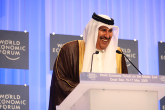 "Panama Papers case - The Court observed that the letter written by Qatari royal Hamad bin Jassim bin Jaber Al Thani (pictured) ""completely changed the public stand of the Prime Minister""."
