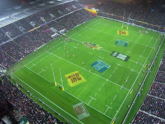 Waikato Rugby Union - Waikato Stadium during a British and Irish Lions match in 2005.