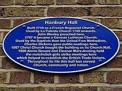Hanbury hall   blue plaque