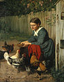 Hans Thoma - Mädchen beim Hünerfüttern.jpg