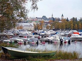 South Karelia - Image: Harbour autumn