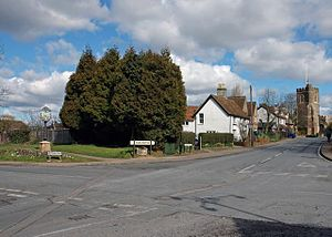 Harlington Manor - Harlington Crossroads (photo by Peter Roberts, March 2005)
